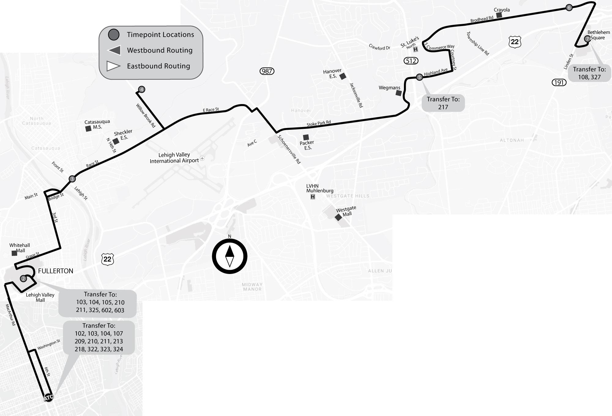 Lehigh Valley Zip Code Map.Lanta Route 319
